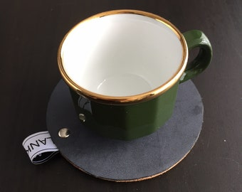 Leather coasters with Cork