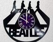 The Beatles - Music Band - Vinyl Record Wall Clock - room wall decor - Art Gift Modern Home Record Vintage Decoration Gift For Him and Her