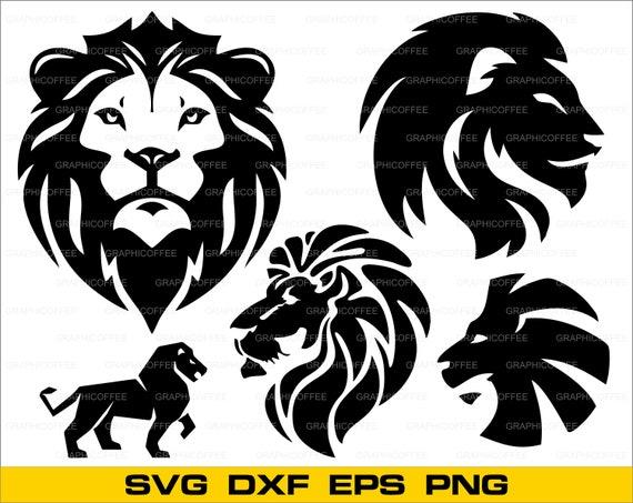Download Lion head SVG bundle clipart cut files for silhouette lion ...