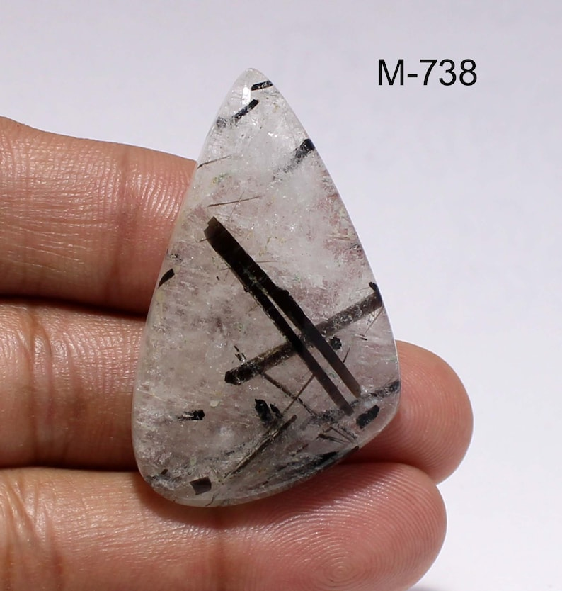 70/% OFF Natural Black Rutile Quatz-Rutile Quatz Cabochon-Loose Gemstone for wire wrapped and jewelry Making Stones-M- 731-739