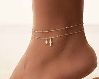 26129f9d9d5 Cross ankle bracelet