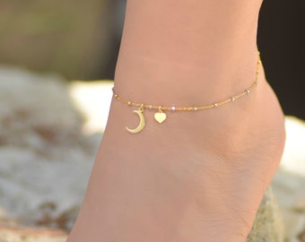 Man In The Moon Anklet To The Moon And Back