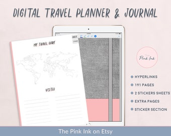 blue daily travel planner printable travel organization etsy