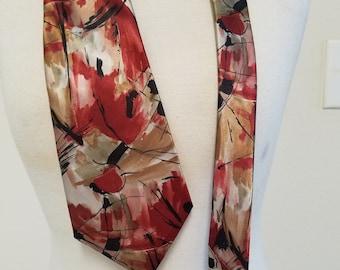 Van Heusen Brown/Red Neck Tie