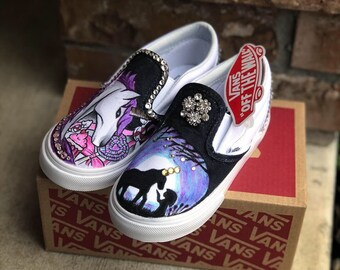 6e01e7dd5956dc Unicorn kids custom vans