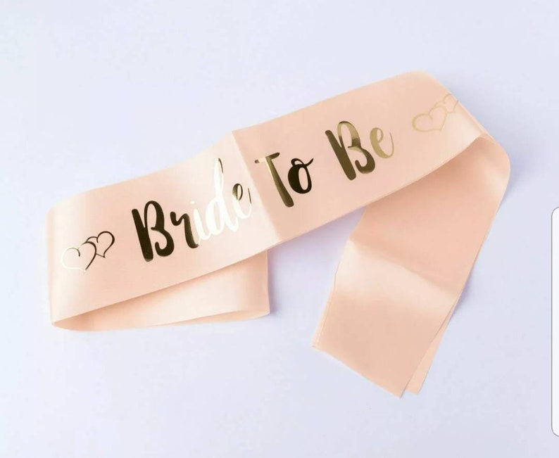 HEN PARTY SASHES ROSE GOLD BRIDE TO BE BRIDESMAID SASH HEN DO GIRLS NIGHT OUT UK