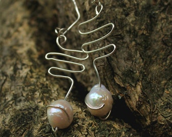 925 silver pendant earrings with mother of pearl