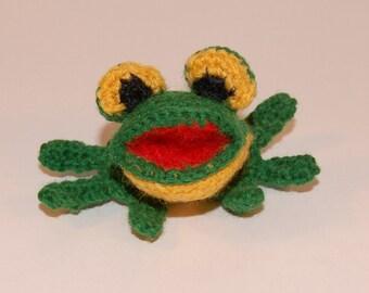 Amigurumi crochet toy, Crochet frog pattern, amigurumi frog pattern, miniature frog, crochet amigurumi, crochet pattern frog, crochet frog