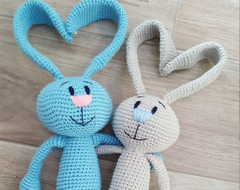 Bunny for baby, amigurumi, plush toy, baby shower gift