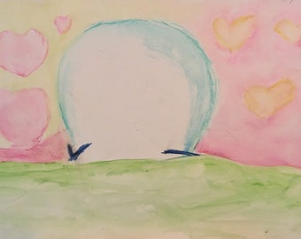 Lamp Light Over Moon Meadow