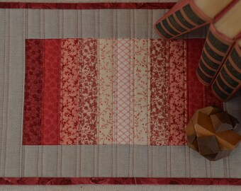 Small Quilted Table Mat - Shades of Melon
