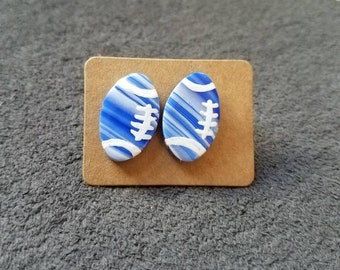 NFL Colts marble colored stud earrings
