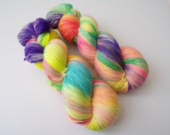 100g Rave, DK Weight, hand dyed shawl sock yarn, dk weight, merino, nylon