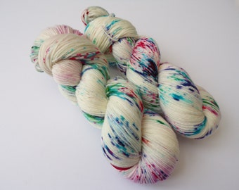 100g Fairy Lights, DK Weight, hand dyed shawl sock yarn, fingering weight, dk, aran, merino, nylon