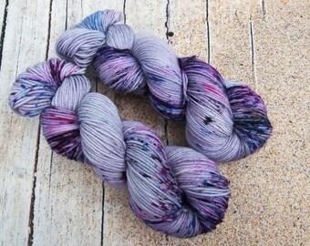 100g One of a kind, hand dyed shawl sock yarn, fingering weight, merino, nylon