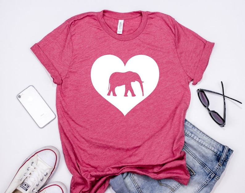Elephant Lover T Shirt For Teen Girls Women Love