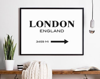 London Print   London Art City Poster England Print London Poster London  Wall Art England Decor English Poster City Wall Art London Sign