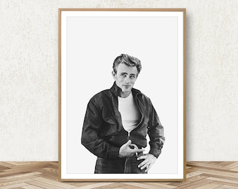 James Dean Print - James Dean Poster Old Movie Poster James Dean Wall Art Mens Fashion Print James Dean Decor James Dean Art Movie Print  sc 1 st  Etsy & James dean | Etsy