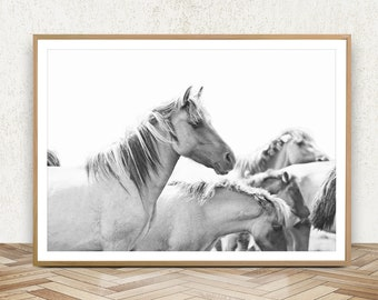 Black And White Horse Print Equestrian Decor Southwest Decor Western Decor  Equestrian Art Horse Poster Horse Wall Art Horse Photography