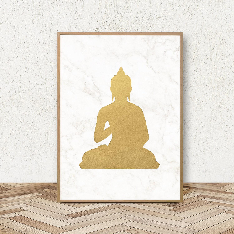 Buddha Print Buddhist Print Buddha Decor Buddhism Poster