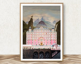 Delightful The Grand Budapest Hotel Poster   Grand Budapest Hotel Print Quote Movie  Print Retro Movie Poster