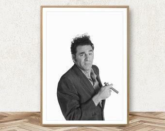 Kramer Poster - Cosmo Kramer Print Kramer Art Seinfeld Poster Jerry Seinfeld Print Kramer Portrait Seinfeld Decor Seinfeld Wall Art