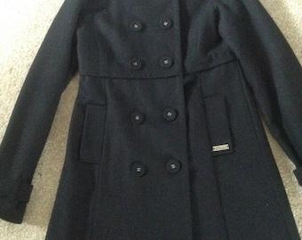 Black wool coat by Diesel