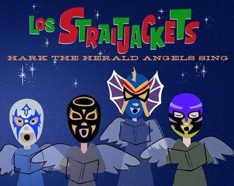 "Los Straitjackets ""Hark the Herald Angels Sing b/w Silver Bells"" 45"