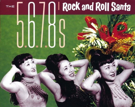 """The 5.6.7.8's """"Rock and Roll Santa"""" 45"""