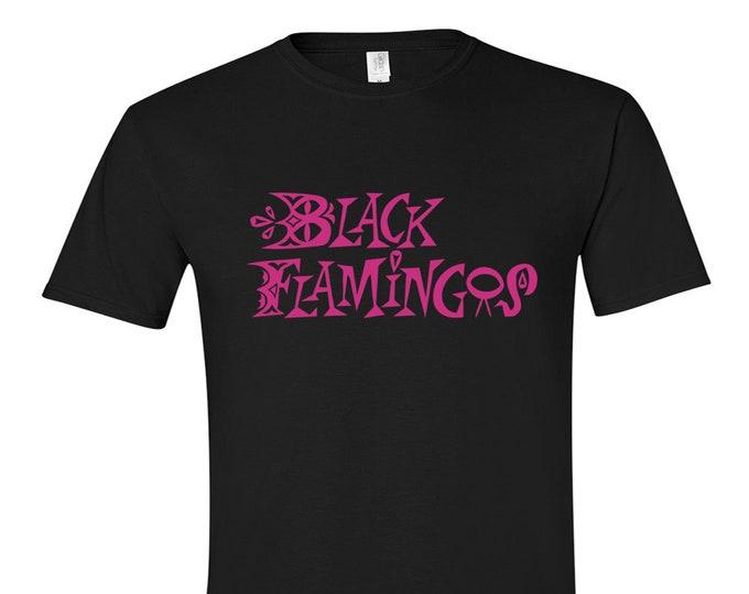 """Black Flamingos """"Neon Boneyard"""" Logo T (Magenta)"""