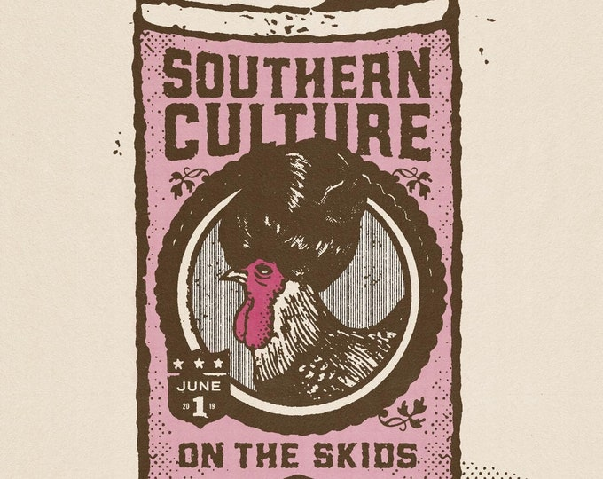 Southern Culture On The Skids / Black Flamingos White Eagle Hall Print 11x17""