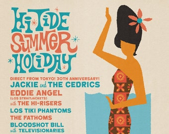 """Hi-Tide Summer Holiday: Asbury Park 2020 Print 11x17"""""""