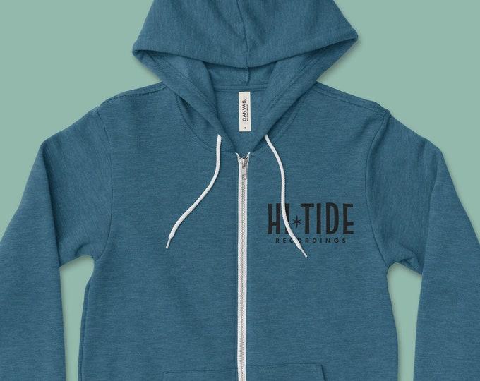 Hi-Tide Recordings Logo Zip-Up Sweatshirt (Sea Blue)