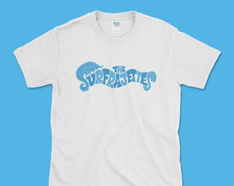 "The Surfrajettes ""Wave Logo"" Unisex T (White)"