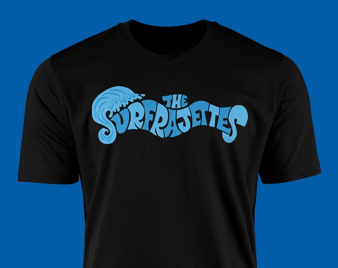 The Surfrajettes Wave Logo T