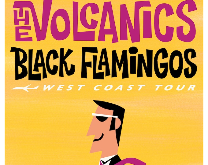 The Volcanics & Black Flamingos West Coast Tour 2018 Print