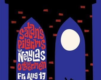 Satan's Pilgrims & The Nebulas Brooklyn 2018 Print