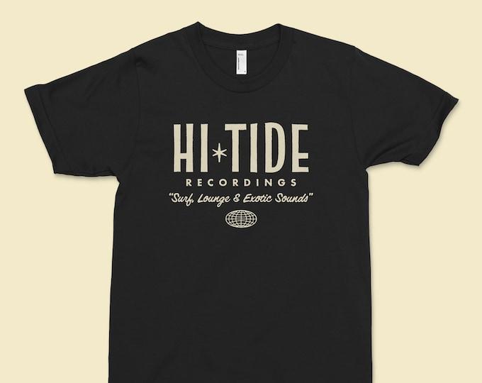 "Hi-Tide Recordings ""Surf, Lounge & Exotic Sounds"" T (Black Magic)"