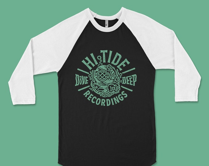 "Hi-Tide Recordings ""Dive Deep"" Raglan"
