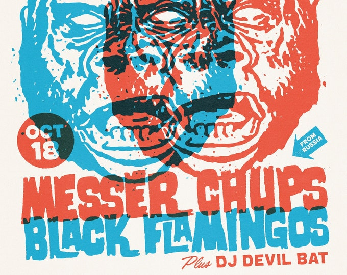 Messer Chups & Black Flamingos Wonder Bar Print 11x17""