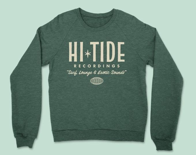"Hi-Tide Recordings ""Surf, Lounge & Exotic Sounds"" Crewneck Sweatshirt"