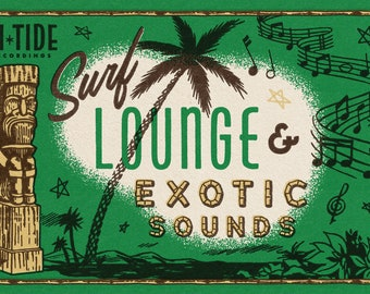 "Hi-Tide Recordings ""Surf, Lounge & Exotic Sounds"" Print"