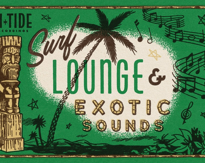"Hi-Tide Recordings ""Surf, Lounge & Exotic Sounds"" Print"