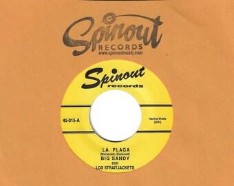 """Los Straitjackets con Big Sandy """"La Plaga b/w Que Mala"""" Single"""