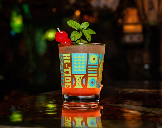 "Hi-Tide & Cellar 335 ""ESCAPE!"" Mai Tai Glass"