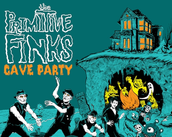 "PRE-ORDER! The Primitive Finks ""Cave Party"" LP"