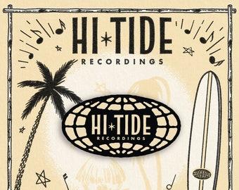 """Hi-Tide Recordings """"Go Global!"""" Enamel Pin"""