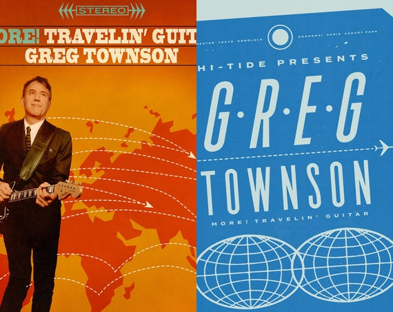 "Greg Townson ""More! Travelin' Guitar"" LP + Print Bundle"