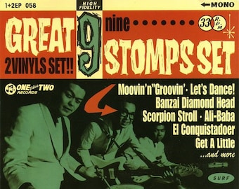 """Jackie and The Cedrics """"Great 9 Stomps"""" 2x7"""" Set"""