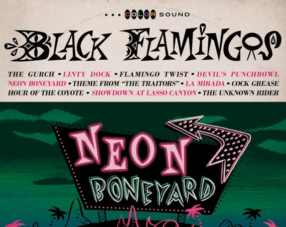 "Black Flamingos ""Neon Boneyard"""